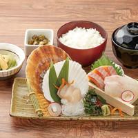 北海道鮮魚3種の刺身定食