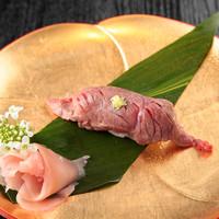 ◇伊豆牛 ランプ炙り寿司