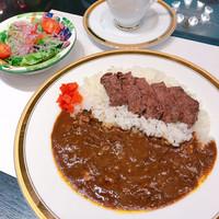 ◇伊豆牛国産牛ステーキカレーセット ミニサラダ・ソフトドリンク付き