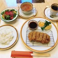 ◇伊豆牛国産牛・牛カツセット ミニサラダ・ライス・スープ・ソフトドリンク付き